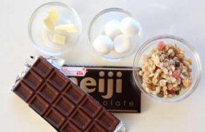 チョコサラミ材料
