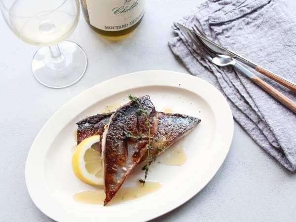 鯖のハーブレモン焼き