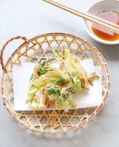 うるいと新たまねぎの天ぷら